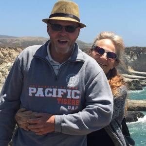 Me and Di beach